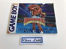 Notice - Muhammad Ali Heavyweight Boxing - Nintendo Game Boy - PAL FAH