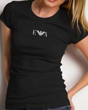 NEW EMPORIO ARMANI Women's Black T-shirt - Size S, M -Slim fit