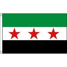 Old Syria Rebel (National Council) Flag 5Ft X 3Ft Syrian Rebel Banner New