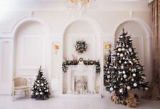 Christmas Tree Fireplace Photography Backdrops Photo Studio Props Background