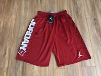 Nike Air Jordan Go 23 Basketball Shorts Red Grey Dri-Fit 838979 687 M NEW
