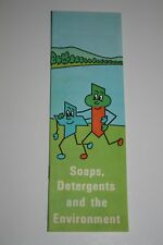 1972 Soaps, Detergents and the Environment Educational Booklet