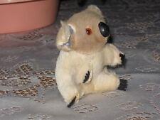 Antique Old 60s Brown Beige Koala Bear Real Fur