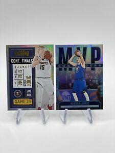 2020-21 Panini Contenders Nikola Jokic The Finals Ticket #'d /75 +MVP Denver LOT