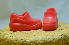 """Barbie Doll Family Size Red Slip On Sneakers 1"""" Long F147"""