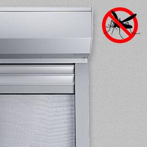 ALU Vorbaurolladen eckig auf Maß mit Insektenschutzrollo Insektenschutz