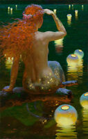 Home Decor HD Prints oil painting on canvas art for living room Mermaid NVN13