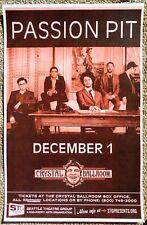 PASSION PIT Gig POSTER December 2010 Portland Oregon Concert