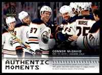 2019-20 SP Authentic Authentic Moments Connor McDavid #115