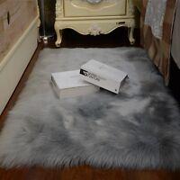 Balcony Large Faux Fur  Sheepskin Area Rugs Shaggy Sofa Bedroom Mat Rugs Carpet