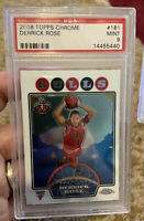 2008 Topps Chrome #181 Derrick Rose Psa Mint 9 Rookie Card