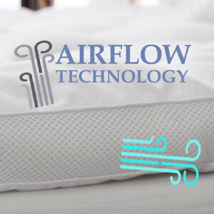 Airflow Mattress Topper 4 Inch Thickness Microfiber Filling with Extra Padding