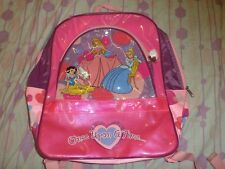 Disney Princess Back Bag. Where dreams begin. 38*30*10cm. Bonus minibag & bottle