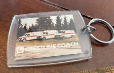 VIntage Crestline Coach Ambulance Paramedic EMT Lucite Photo Keychain
