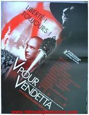 V POUR VENDETTA Affiche Cinéma / Movie Poster HUGO WEAVING / NATHALIE PORTMAN