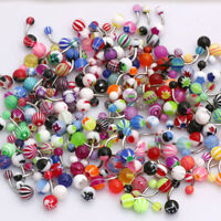 Belly Bars Stainless Steel Acrylic Glow in the Dark Crystal Navel Body Piercing