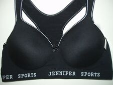1 New Womens SPORT Bra Fitness RACERBACK PADDED Yoga top 34-44 D Cup  #61014