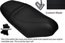 BLACK STITCH CUSTOM FITS PIAGGIO NRG 50 MC3 DUAL LEATHER SEAT COVER ONLY