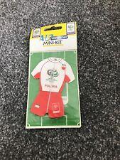 Oficial de la Copa del Mundo Alemania 2006 Licencia Producto Polonia Mini Kit de aire fresco Polska
