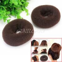 2Pcs Girls Magic Donut Hair Bun Ring Styling Maker Beauty Tool Scrunchie  NFO