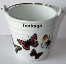 Butterfly teabag tidy Bucket, decorated with choice of 2 sizes