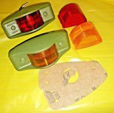 1 RED + 1 AMBER Marker Light Assemblies w/LED Bulb; MS35423-1 + MS35423-2 w/LED