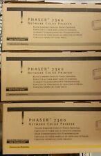 Lot of (3x) New Genuine Xerox Phaser 7300 Toner Carts - (1) Yellow &  (2) Black