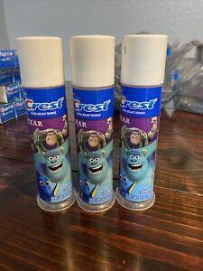 crest toothpaste 4.2 oz kids toy story pump blue bubblegum lot of 3