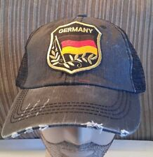 German FLAG Hat Low Profile Cotton Mesh Distressed Germany Flag cap
