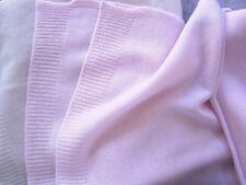 100% Pure cashmere scarf Winter Pale Pink Unisex soft knit long