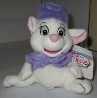 "Disney Store The Rescuers Bianca Mouse Bean Bag plush Toy 8"" w/Tag Exclusive"