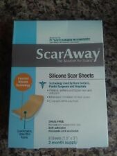 CHEAPEST ON EBAY! ScarAway ® Silicone Scar Sheets 8 Each 2 Months Scar away