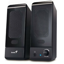 GENIUS BLACK MULTIMEDIA STEREO SPEAKERS SYSTEM FOR LAPTOP DESKTOP PC COMPUTER