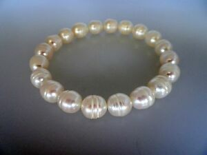 Honora Cultured White Color Pearls Stretch Bracelet  8.5MM