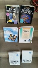 LOT VINTAGE Microsoft Windows Version 3.1 MS DOS ETC Collectible Rare Books
