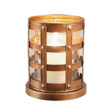 Foreside Copper Hurricane Candle Holder, Large