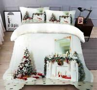 3D White Cabinet B60 Christmas Quilt Duvet Cover Xmas Bed Pillowcases Zoe