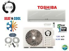 24000 Btu Ductless Air Conditioner, Heat Pump Mini Split 220V: 2Ton w/kit