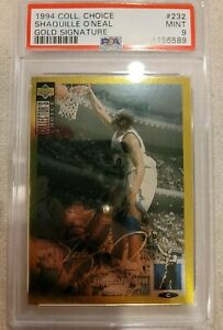 1994-95 UD Collector's Choice GOLD Signature Shaquille O'Neal Card #232 🔥 POP=4