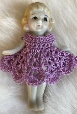 Crochet Dress For 2 1/2 - 2 3/4 Frozen Charlotte Bisque Penny Doll