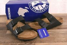 Birkenstock Arizona Birko-Flor Sandals Women's 8 Med Men's 6 Cork Shoes Black 39