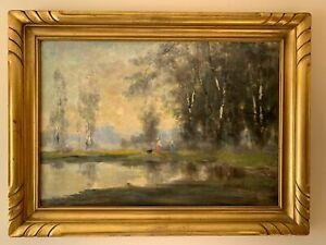 TERDI TOVQIS (1915-1970) Antique Oil/Canvas Painting Canadian  Tonalist