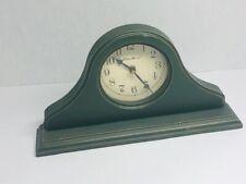 Eddie Bauer Green Wood Mantle Clock New Battery