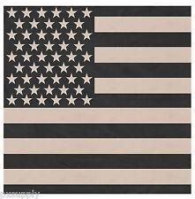 """bandana us flag 22"""" x 22"""" subdued biker military USA cotton rothco 4074"""