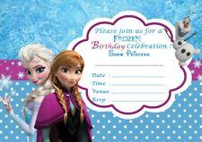 Frozen Party Invitations c/w Envelopes