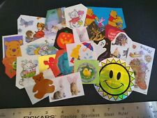 Vintage Stickers Cats Suzy's Zoo Lot of 22 Mods Cut Up Random Mix Stickers