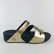 Fit Flop metallic gold strap sandals 8