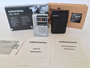 GRUNDIG MINI WORLD 100 PE AM/FM SW ShortWave 1-6 Radio with Soft Case