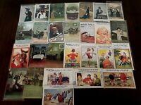 Lot of 27~ Vintage BAMFORTH~Comic Funny Humor Postcards-Various Topics~c161