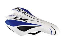 Sillin Niño para Bicicleta Junior Anatomico y Ergonomico Azul Negro Blanco 6087